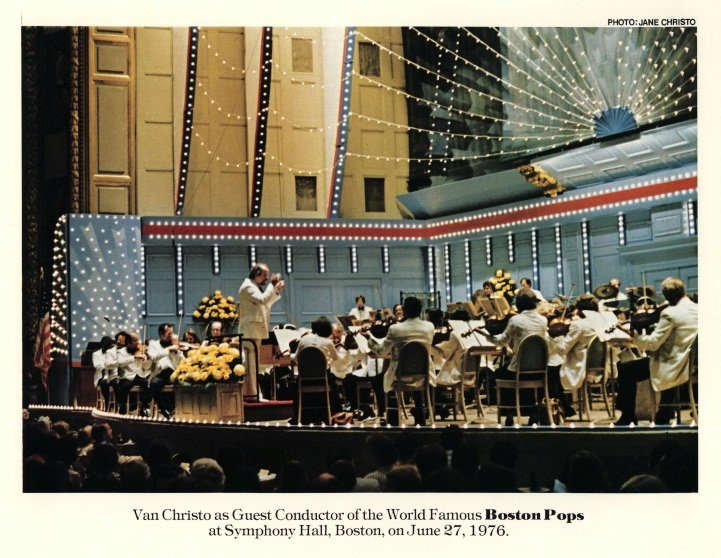 Van Christo conducts The Boston Pops.
