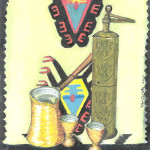 Coffee Grinder, Watercolor.