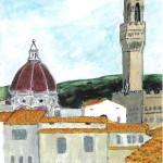 Firenze #2, Watercolor.