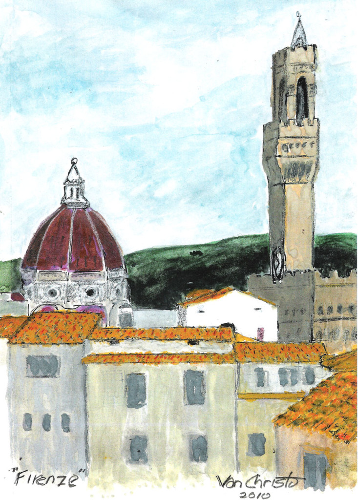 Firenze #2, Watercolor.