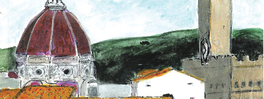 Firenze #2, Watercolor