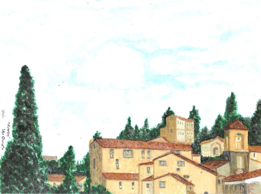 Firenze #1, Watercolor.
