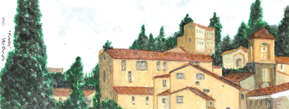 Firenze #1, Watercolor