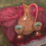 Kafeja Carafe, Watercolor.