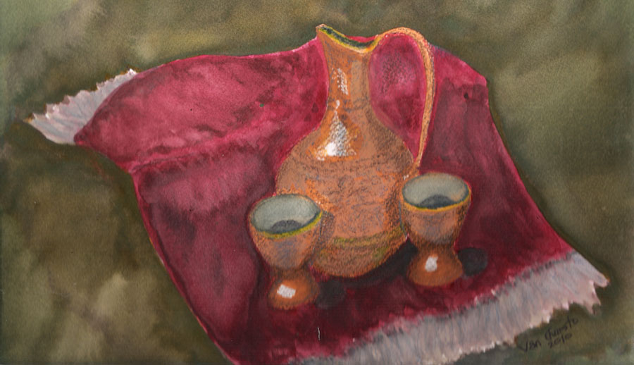 Kafeja Carafe, Watercolor.