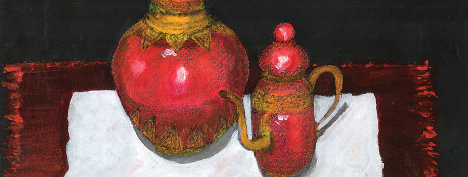 Kafeja Pots, Watercolor