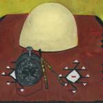 Kafeja with Fez #2, Watercolor.
