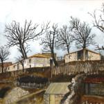 Lubonja Village, Watercolor