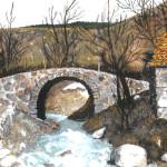 Lubonja Stone Bridge, Watercolor
