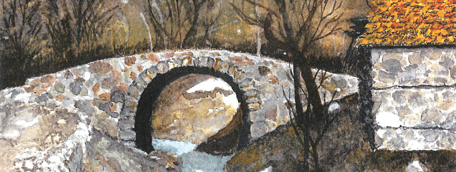 Lubonja Stone Bridge, Watercolor