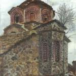 Mborja Church, Watercolor