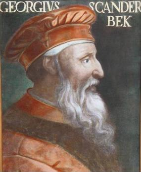 Portrait of Skanderbeg in the Uffizi, Florence