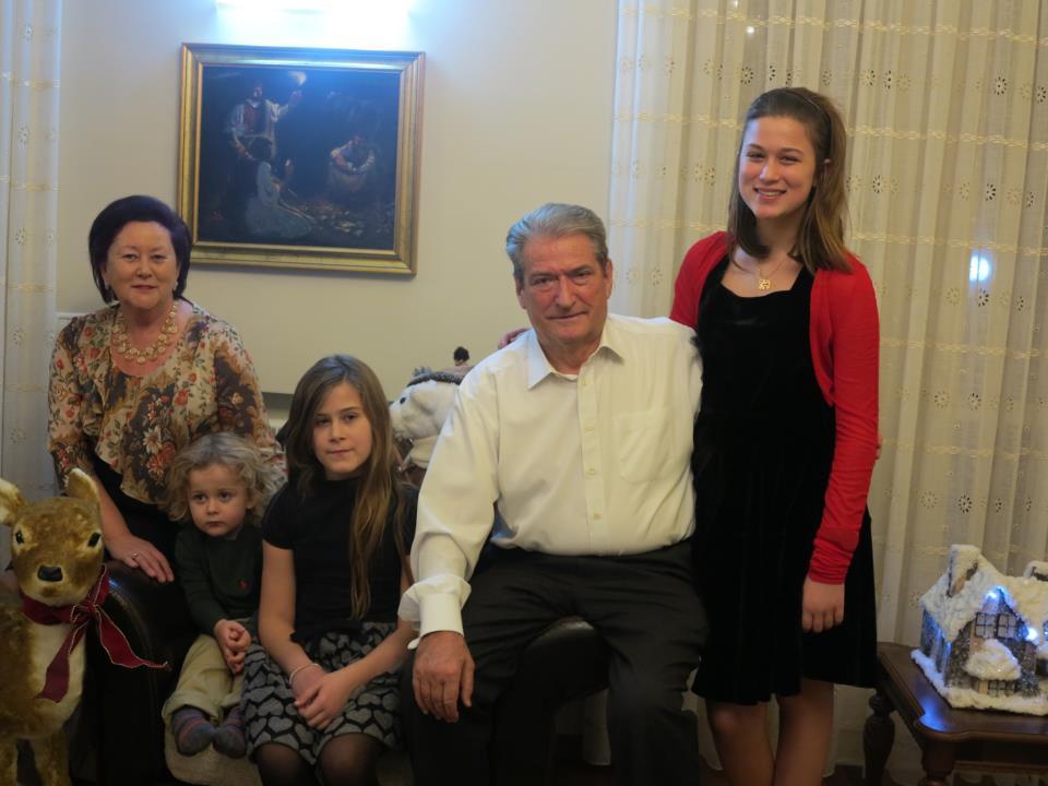Albanian Prime minister Sali Berisha and Family.