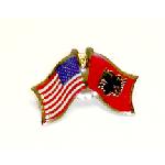 Albanian-American Lapel Pin