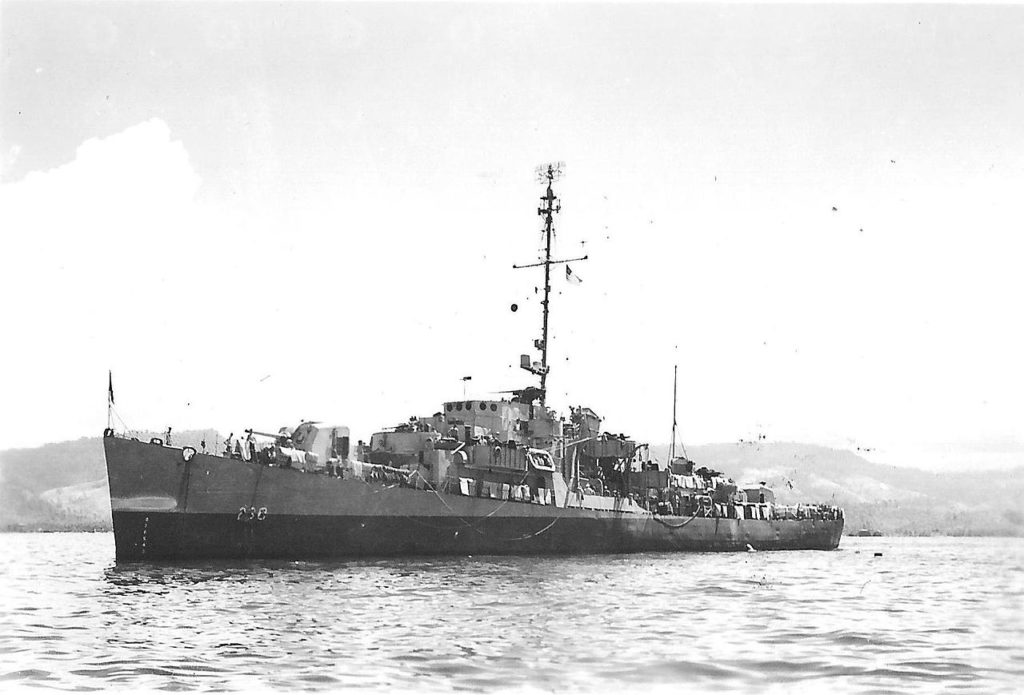 USS Chaffee at Anchor